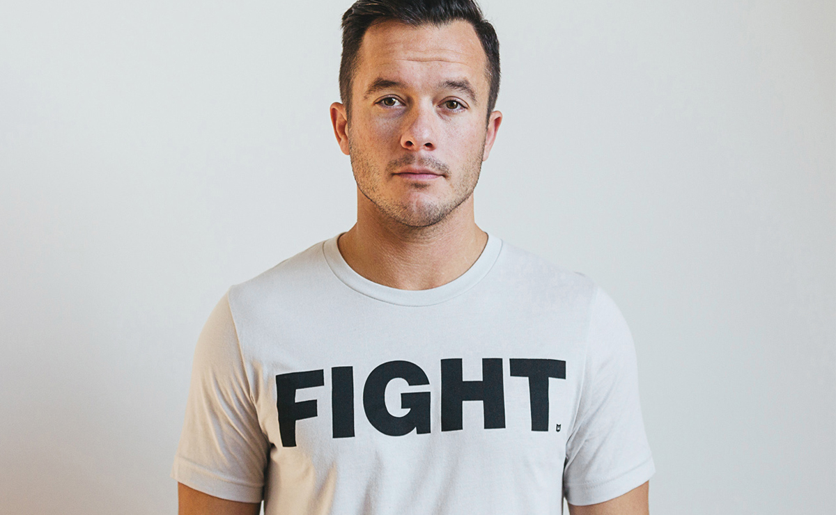 """FIGHT"" Grey Tee"