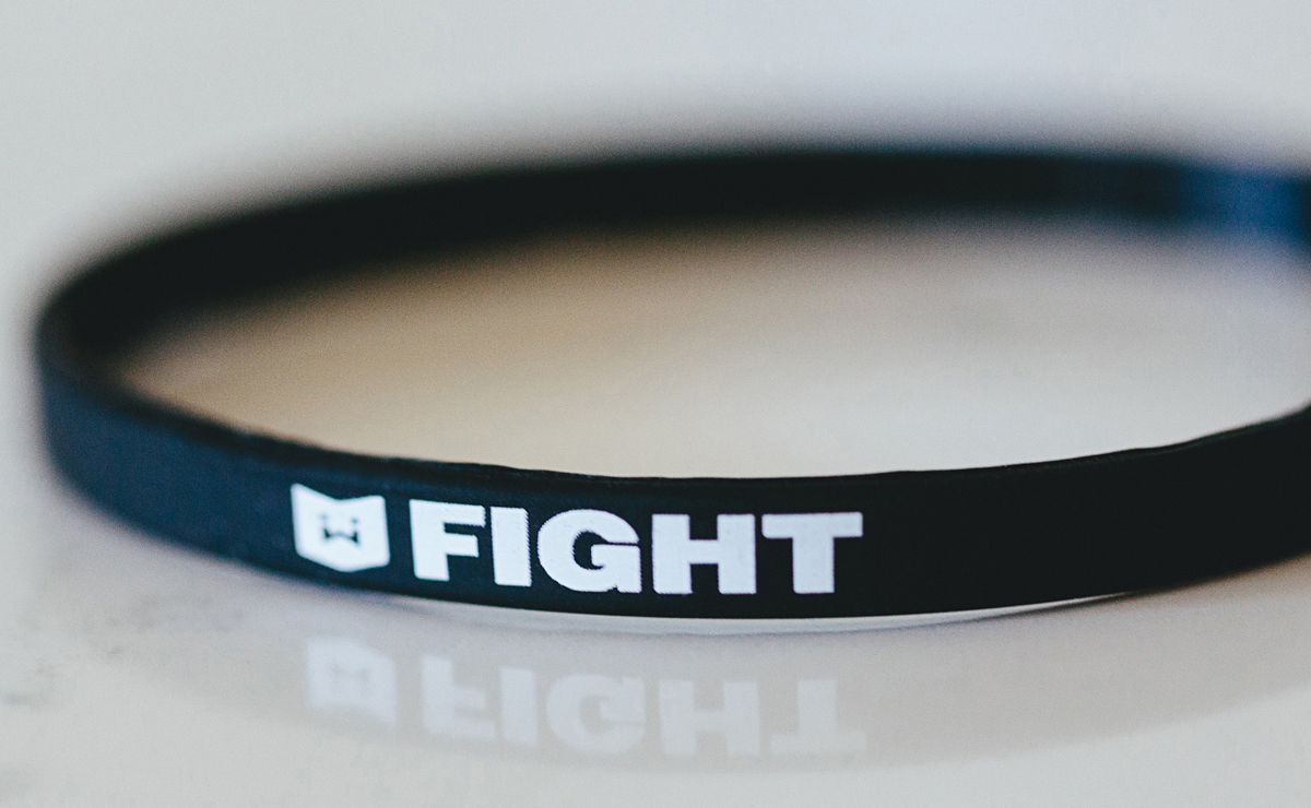 "Warrior Icon ""FIGHT"" Thin Wristband"